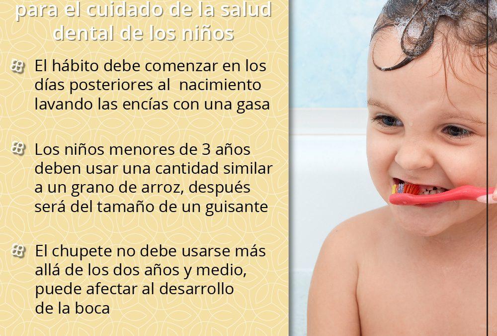 ¿Cómo debemos cuidar de la salud dental de los niños?